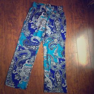 Cynthia Rowley- Paisley Print Lounge Pants. Size S